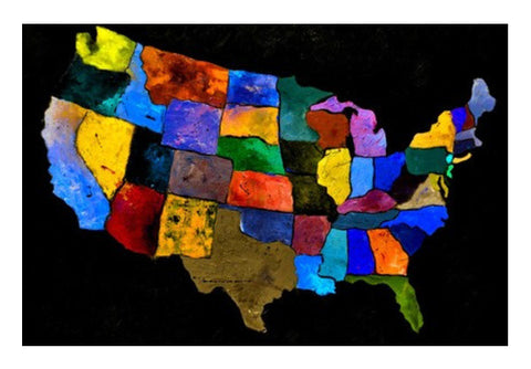 Usa Map 2 Art PosterGully Specials