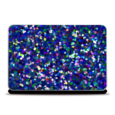 Laptop Skins, Blue Abstract Pointillism Art Laptop Skin l Artist: Seema Hooda, - PosterGully