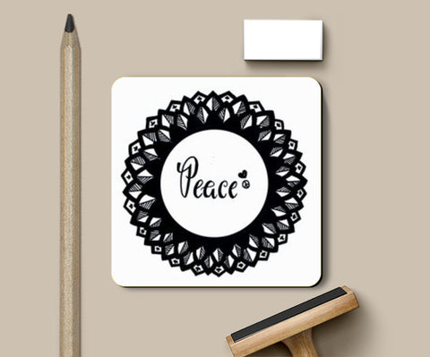 PosterGully Coasters, peace out n sip sip Coasters | Artist : shobha philip, - PosterGully