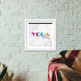 Yoga all day !! Premium Square Italian Wooden Frames | Artist : Dolly P