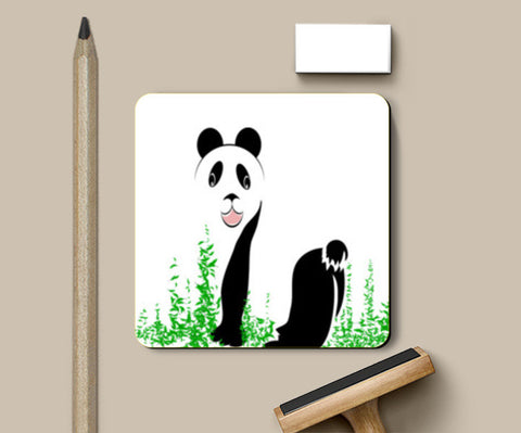 PosterGully Coasters, THE PANDA is a symbol of gentleness and strength. it is an auspicious symbol of peace, harmony Coasters | Artist : amit kumar, - PosterGully