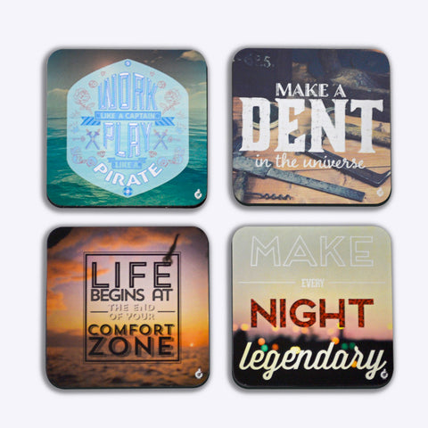 Coasters, Motivational Quotes - Coasters, - PosterGully