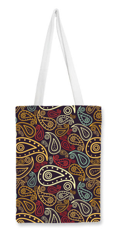 Abstract hand drawn floral illustration on multicolors Tote Bags | Artist : Designerchennai