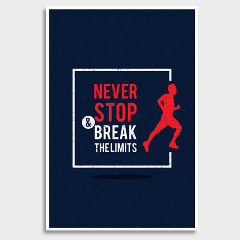 Never Stop Break The Limits Giant Poster | Artist : Inderpreet Singh