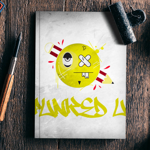 punked up graffiti  Notebook | Artist : Shantanu Kumar