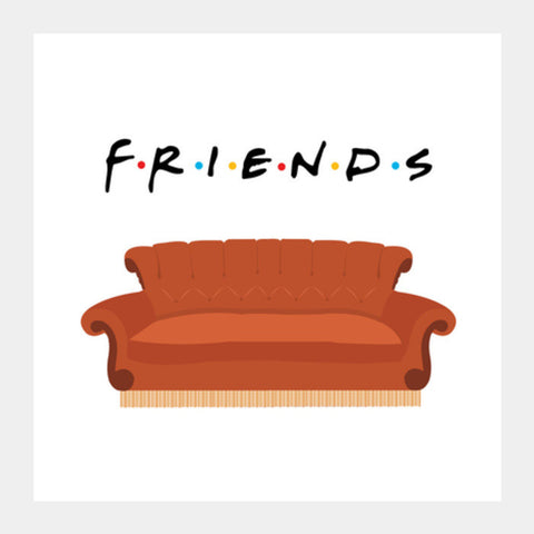 Square Art Prints, Central Perk Friends Couch Square Art Prints | Artist : safira mumtaz, - PosterGully