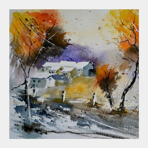 Square Art Prints, watercolor 612071 Square Art Prints | Artist : pol ledent, - PosterGully