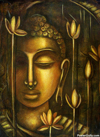 Wall Art, Lord Buddha Artwork | Artist: Raji Chacko, - PosterGully - 1