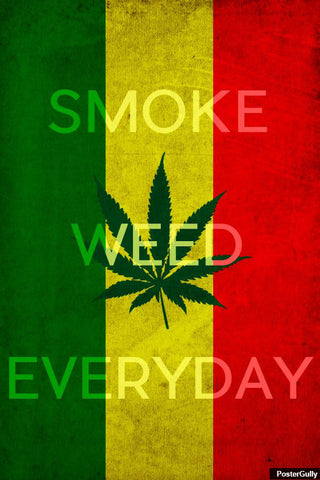 Brand New Designs, Smoke Weed Everyday Artwork | Artist: Vibhu Agrawal, - PosterGully