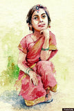 Wall Art, Sweet Girl Painting #3 Artwork | Artist: Raviraj Kumbhar, - PosterGully - 1