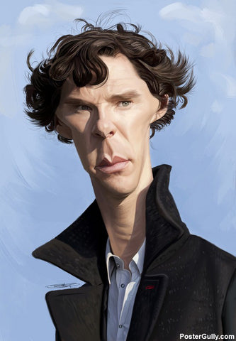 Wall Art, Sherlock Caricature Artwork | Artist: Sri Priyatham, - PosterGully - 1