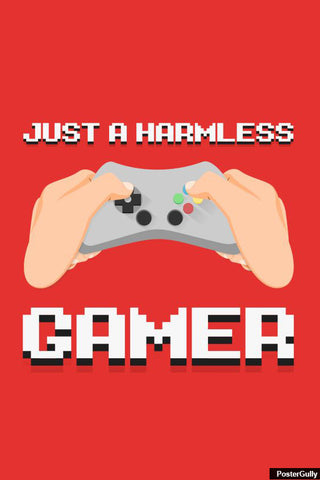 Wall Art, Minimal Gamer Artwork | Artist: Nitin Bhatnagar, - PosterGully - 1