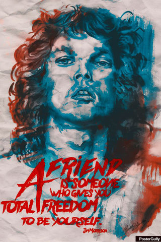 Wall Art, Jim Morrison Artwork | Artist: Pankaj Bhambri, - PosterGully - 1