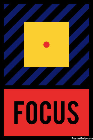 Wall Art, Focus Motivational Artwork, - PosterGully - 1