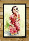 Wall Art, Sweet Girl Painting #3 Artwork | Artist: Raviraj Kumbhar, - PosterGully - 2