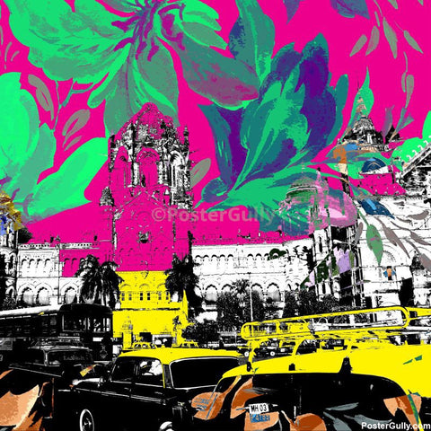 Brand New Designs, Mumbai Taxi Artwork | Artist: Pradeesh K, - PosterGully