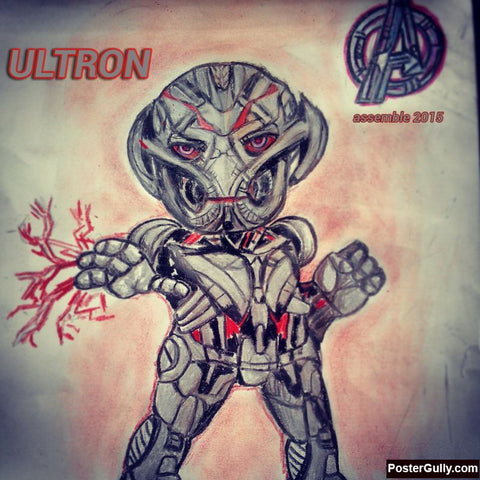 Square Art Prints, Ultron Artwork | Artist: Salman Jamadar, - PosterGully
