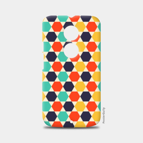 Multi colored repetition shape background Moto X2 Cases | Artist : Designerchennai