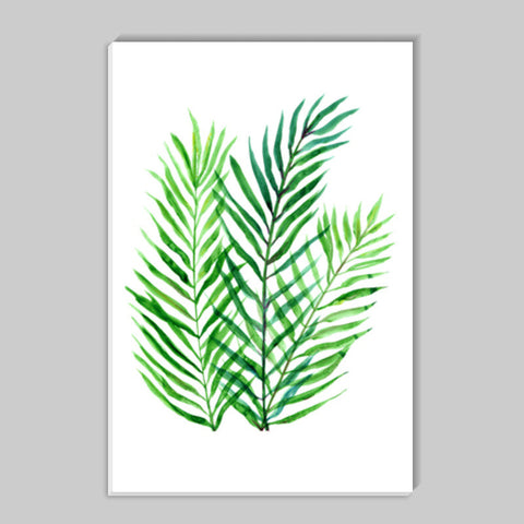 Tropical Green Palm Leaves Stick Ons | Artist : Seema Hooda