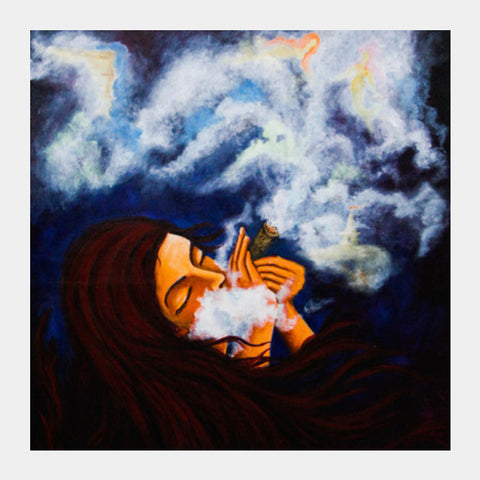 Chillum  Square Art Prints | Artist : Aashna Aasif