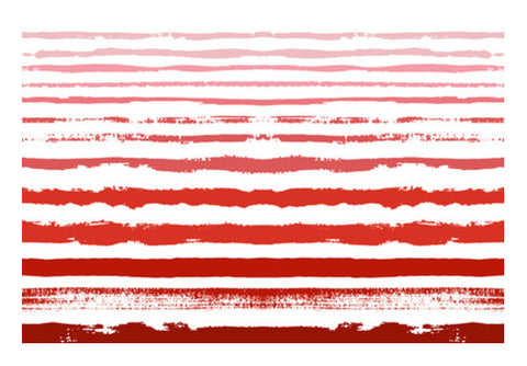 Uneven Red Stripes  Wall Art  | Artist : Amantrika Saraogi