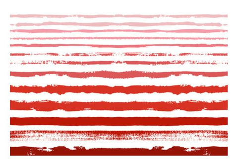 PosterGully Specials, Uneven Red Stripes  Wall Art  | Artist : Amantrika Saraogi, - PosterGully