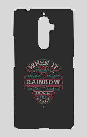 When It Rains Look At The Rainbow, When It's Dark Look At The Stars Lenovo K8 Note Cases | Artist : Inderpreet Singh