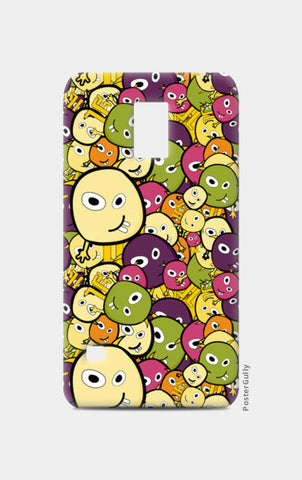 Doodle characters pattern Samsung S5 Cases | Artist : Designerchennai