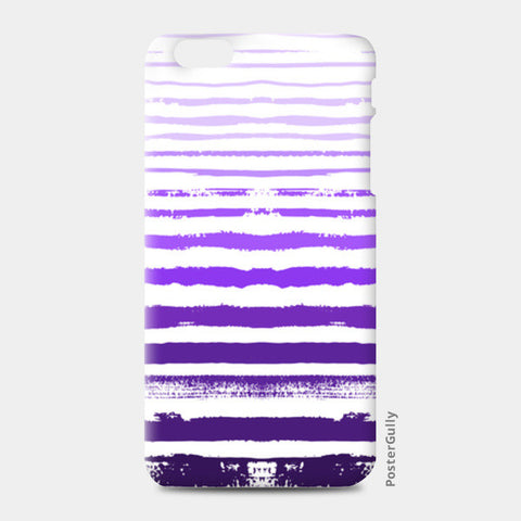 Uneven Purple Stripes iPhone 6 Plus/6S Plus Cases | Artist : Amantrika Saraogi