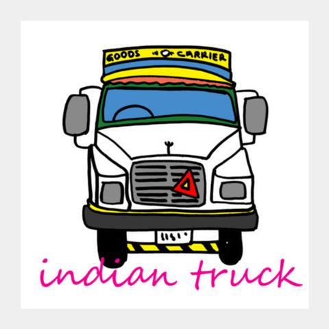 indian truck Square Art Prints | Artist : Pradeesh K