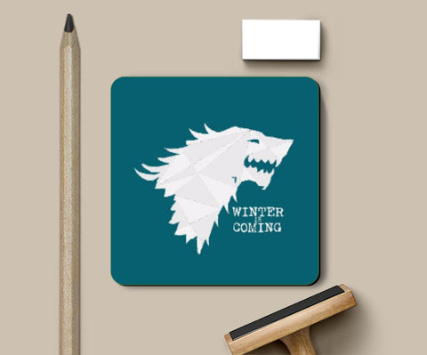 Coasters, GOT Stark | Winter is Coming Coaster | Artist: Sarbani Mookherjee, - PosterGully
