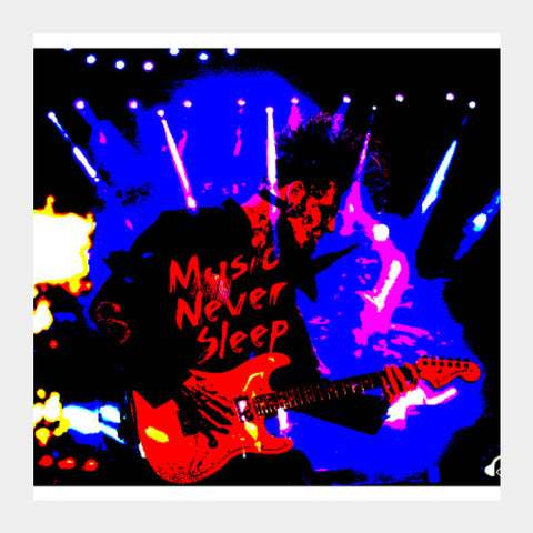 Square Art Prints, Music Never Sleep Square Art | Boys Theory, - PosterGully