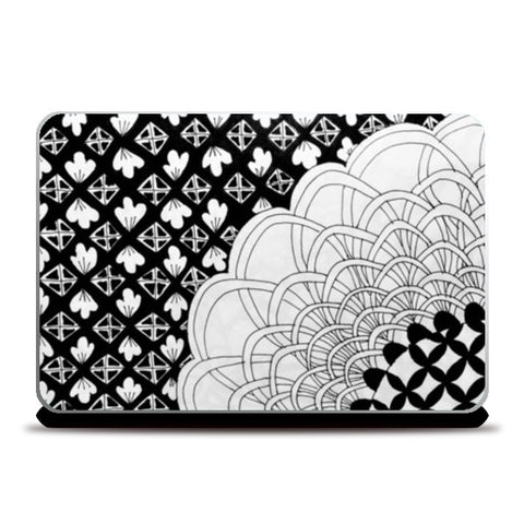 Loops and Crosses Laptop Skins | Artist : Purvi Gadewar