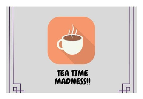 PosterGully Specials, Tea Time Madness Wall Art  | Artist : Pallavi Rawal, - PosterGully
