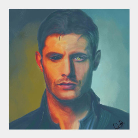 Square Art Prints, Dean Winchester Supernaturals Square Art | Divakar Singh, - PosterGully
