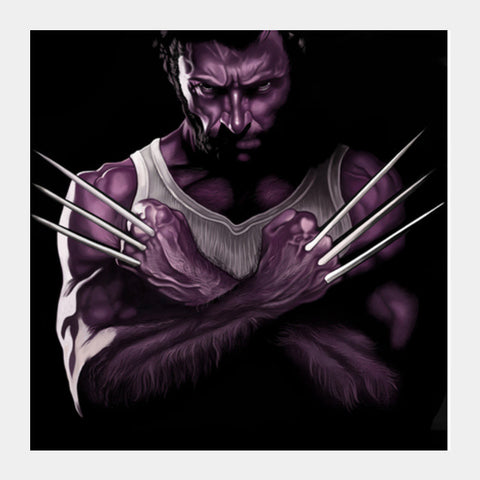 Square Art Prints, wolverine Square Art Prints | Artist : chaitanya kumar, - PosterGully
