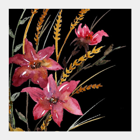 Square Art Prints, Wildflowers Square art Print I Artist: Seema Hooda, - PosterGully