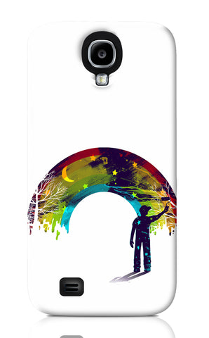Samsung S4 Cases, Midnight Rainbow Painter White Samsung S4 Case | By Captain Kyso, - PosterGully