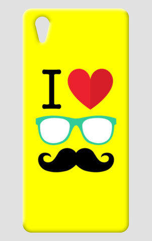 I Love Mustache One Plus X Cases | Artist : Dhruv Narelia