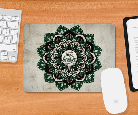 Just Breathe Mandala Mousepad | Artist : Gursimran Kaur