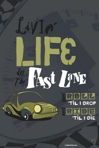 Wall Art, Fast Lane Artwork | Artist: MyArtini Bar, - PosterGully - 1