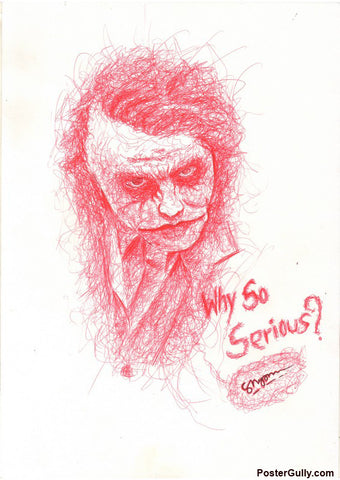 Brand New Designs, Joker So Serious Artwork | Artist: Shyam Zawar, - PosterGully - 1