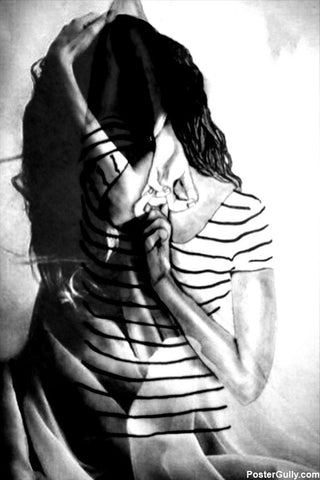 Wall Art, Girl Sketch Artwork | Artist: Smriti Sundar, - PosterGully - 1