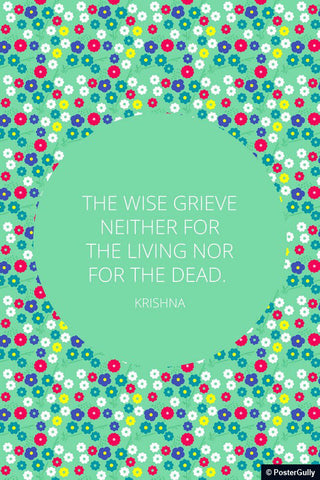 Wall Art, Wise Grieve Quote Krishna | Bhagavad Gita, - PosterGully - 1