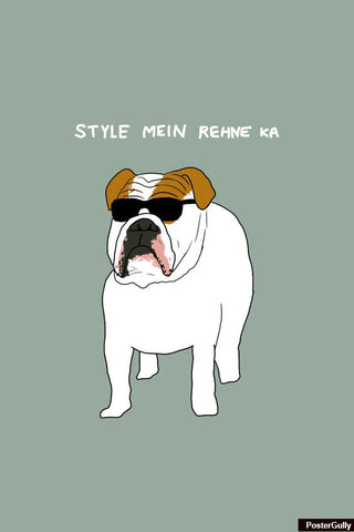 Wall Art, Style Mein Bulldog Humour Artwork | Artist: Inderpreet, - PosterGully - 1