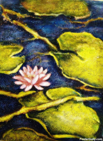 Brand New Designs, Lotus Pond Artwork | Artist: Raji Chacko, - PosterGully - 1