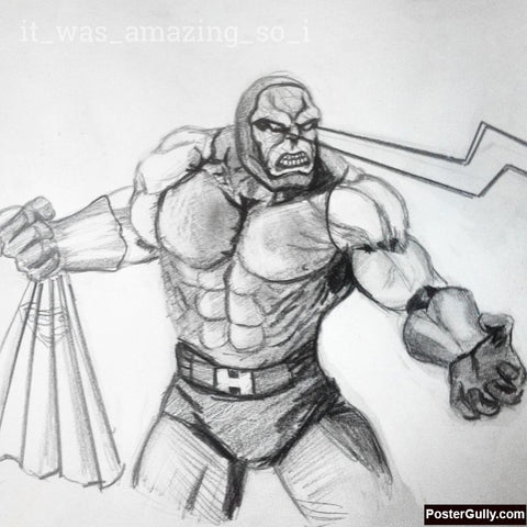 Square Art Prints, Hulk Sketch Artwork | Artist: Salman Jamadar, - PosterGully