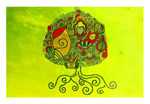 Wall Art, Bodhi Tree Zenscrawl Wall Art | Meghnanimous, - PosterGully