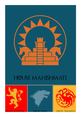 House Mahishmati Wall Art | Artist : BY Darakhsha Dandekar, Karan Mehta and Udit Shah