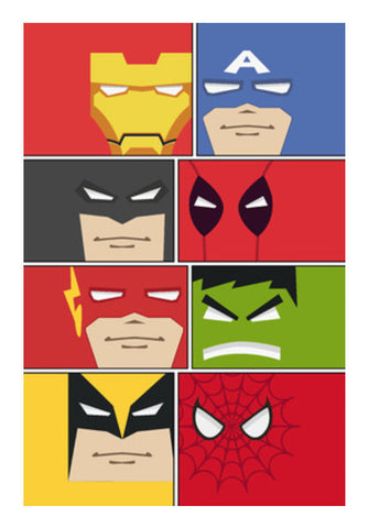 Minimalist Superheroes Art PosterGully Specials